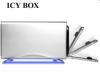 """Raidsonic IB-361StUS-BL :: Външна кутия за 3.5"""" SATA HDD, алуминиева, светещ панел, USB 2.0 & eSATA интерфейс"""