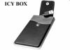 """Raidsonic IB-281StU :: Външна кутия за 2.5"""" SATA HDD, кожена обшивка, вграден кабел, USB 2.0 интерфейс"""