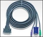 ATEN 2L-1601P :: KVM кабел, DB25 M >> 2x PS2 M + HD15 M, 1.8 м
