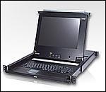 "ATEN CL1216LA :: 16-port KVM суич с 15"" LCD KVM конзола, full keyboard, touchpad, 1U"
