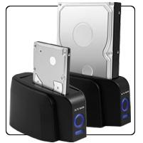 """Raidsonic IB-110StUS2-B :: Външна докинг станция за 2.5"""" & 3.5"""" SATA дискове; USB 2.0 & eSATA интерфейс"""
