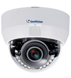 GEOVISION GV-EFD5101 :: IP камера, 5.0 MP H.264, P-Iris 3 ~ 9 mm, Low Lux WDR IR Fixed IP Dome
