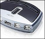 ATEN US421 :: периферен превключвател, 4x 1, USB 2.0 (4 PC поделят едно USB у-во)