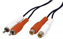 VALUE 11.99.4326 :: RCA удължителен кабел, 5.0 м, 2x RCA M/F