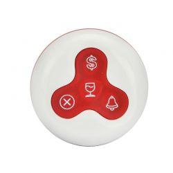 Y-A4 :: Бутон за безжично повикване, 4 клавиша, 300 м обхват, червен
