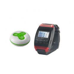 Y-650 :: Безжичен часовник-пейджър за повиквания от бутони, 300 м обхват