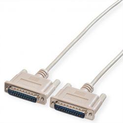 ROLINE 11.01.3560 :: RS-232 сериен кабел, D25 M/M, 6.0 м, монолитен, 25 проводника