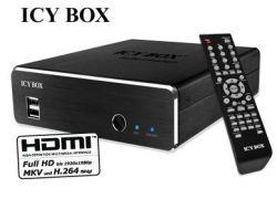 """Raidsonic IB-MP309HW-B :: Мултимедиен мрежов плейър с 3.5"""" гнездо за HDD, HDMI, Full HD резолюция"""