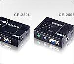 ATEN CE250AL/R :: KVM конзолен екстендър, 1280 x 1024, Surge Protect, AGC, 150 м Cat 5