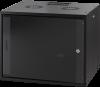 MIRSAN MR.WTC12U45.01 :: Сървърен шкаф за мрежово оборудване - 540 x 570 x 450 мм, D=450 мм / 12U, Черен, за стена, ComboBox