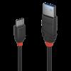 LINDY 36917 :: Kабел USB 3.1 Type A към Type C, M-M, Black Line 1.5m