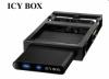 """Raidsonic IB-266StUSD-B :: Външна кутия за 2.5"""" SATA HDD, докинг станция за FDD гнездо, USB 2.0 & eSATA интерфейс"""