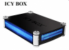 """Raidsonic IB-550StUS2-B-BL :: Външна комбинирана кутия за 3.5 и 5.25"""" SATA HDD/DVD/CD, алуминиева, USB 2.0 & eSATA интерфейс"""